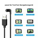 LANMU Câble de Transfert de données Micro USB pour Tomtom Start 42/52/62 Pkw-Navi, Tomtom GO 520/620 et Autres appareils avec Emplacement Micro USB 1,5 m