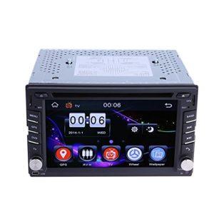 Prettygood7Navigation GPS 2DIN HD stéréo de Voiture DVD Lecteur CD avec caméra de recul