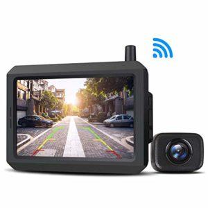 Caméra de Recul sans Fil avec Signal Numérique Stable, Caméra de Recul IP68 Étanche & Moniteur TFT-LCD, Image Claire et Stable AUTO-VOX W7