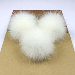 EdBerk74 Mignon Fourrure Pompon Amovible Fourrure Fluffy Bobble Ball avec Bouton de Presse pour DIY Chapeaux Casquettes Sacs Vêtements Chaussures Décor