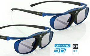 2X Hi-SHOCK® RF Pro Deep Heaven   Lunettes 3D-RF pour projecteurs: EPSON, JVC, Sony   compatibles avec ELPGS03 [Lunettes à Obturation   120 Hz   Rechargeables   32 GR.   RF Standard   Bleu]