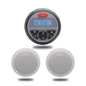 Bluetooth Stéréo Marine USB Lecteur Musical MP3 Radio FM AM Système Sonore Aux RCA 1Pairs 2 Voies 4 Pouces Haut-parleurs Marine