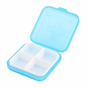Boîte de Rangement Amovible pour médicaments 4 pilules médecine Organisateur Portable Conservation préserver séparer Division conteneur Stockage