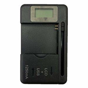 SaraHew74 Chargeur de Batterie Mobile Universel Ecran indicateur LCD pour téléphones Portables avec Chargeur de Port USB pour la Plupart des Batteries au Lithium-ION