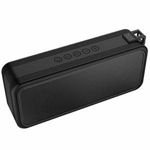 Aqajyh Enceinte sans Fil Bluetooth 4.2, Charge Rapide avec Poignée TWS Tridimensionnelle Étanche, Carte TF Carte USB AUX, 3000 Mah en Lecture Pendant 20 Heures,Noir