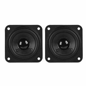 ASHATA Haut-parleurs de Gamme Complète 2 Pouces 61mm Haut-parleurs Super Deep Bass 8Ω 10W