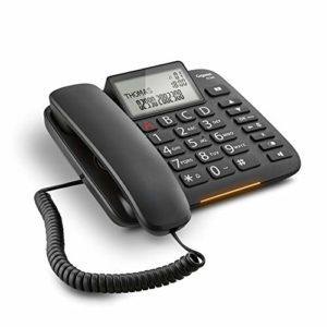 Gigaset DL 380téléphone Fixe, Large écran, Grandes Touches de Couleur ergonomiques, Affichage appelée par LED, Black [Italie]