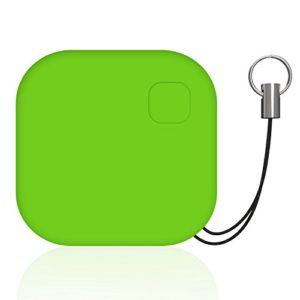 Localisateur d'objets, GOMAN Localisateur de clés Key Finder Traceur GPS Bluetooth Anti-Perte Porte-Clé avec Alarme de Localisation Tracker avec Télécommande de Caméra Fonction pour iOS/Android – Vert