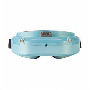 RONSHIN Skyzone SKY03O OLED 5.8GHz 48CH Lunettes de Protection FPV en Support OSD DVR HDMI avec traqueur de tšºte LED pour RC Racing Drone Bleu Clair