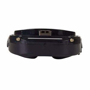 RONSHIN Skyzone SKY03O OLED 5.8GHz 48CH Lunettes de Protection FPV en Support OSD DVR HDMI avec traqueur de tšºte LED pour RC Racing Drone Noir