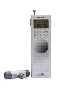 TECSUN Pl-360 Radio Digital PLL Portable Radio FM Stereo/LW/SW/MW DSP Receiver (SILVER)