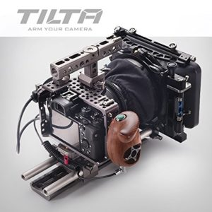Tilta ES-T17 C Sony Alpha A7S A7R A7S II Mark II MK2 A7S2 A7R2 Lightweight ES-717A Cage de 15 mm Rod Release baseplate + FF-T03 Follow Focus +MB-T05 4 * 4 Mattebox + Wooden Handle (Record Function)