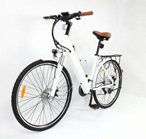 WEMOOVE City électrique Série 500 28″ Shimano 21V Blanc 23 KG