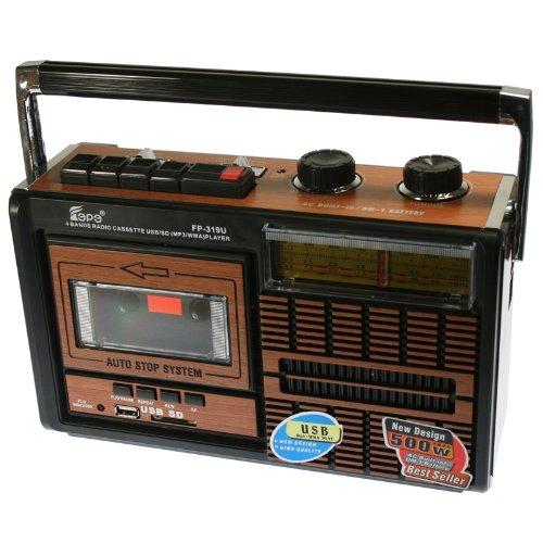 Radiocassette avec connexion USB et cartes SDFEPE FP-319U